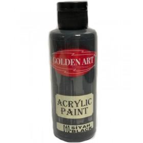 Golden Art Akrilik Boya 130cc - 010 SİYAH