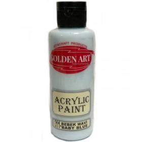 Golden Art Akrilik Boya 130cc - 011 BEBEK MAVİ