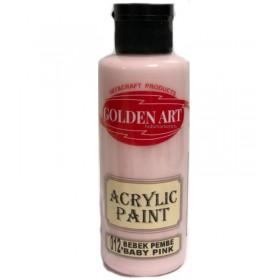 Golden Art Akrilik Boya 130cc - 012 BEBEK PEMBE