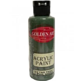 Golden Art Akrilik Boya 130cc - 014 YAĞ YEŞİLİ