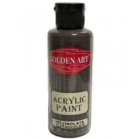 Golden Art Akrilik Boya 130cc - 023 ÇİKOLATA