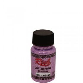 Rich Simli Boya (Glitter Paint) 50cc - PEMBE 9006