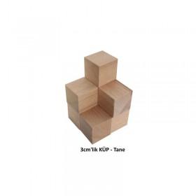 Ahşap Küp (Kayın Ağacı) 3cm'lik - Tane