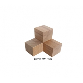 Ahşap Küp (Kayın Ağacı) 5cm'lik - Tane