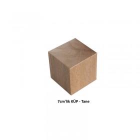 Ahşap Küp (Kayın Ağacı) 7cm'lik - Tane