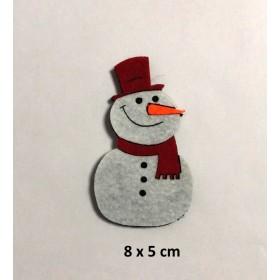 Kardan Adam Atkılı 8x6cm Küçük Keçe Süs