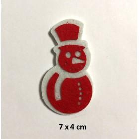 Kardan Adam Kırmızı 7x4cm Küçük Keçe Süs