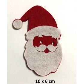 Noel Baba 10x6cm Büyük Keçe Süs