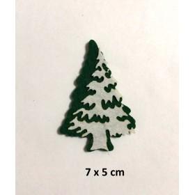 Çam Ağacı Kar Yağmış 7x5cm Keçe Süs