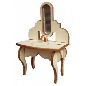 Musluklu Aynalı Tezgah Minyatür Ahşap Obje MY10
