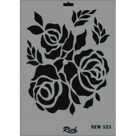 Rich New Seri N-525 Stencil 35x25cm