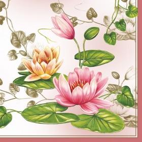 Maki Peçete Nilüfer Çiçeği 39- 010903 Özel Desen 33x33