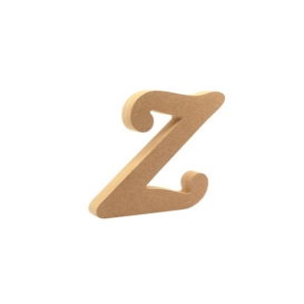 18mm Z - Harf Ahşap Obje HR29  Yükseklik: 15 cm