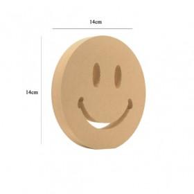 18mm Gülen Emoji Ahşap Obje