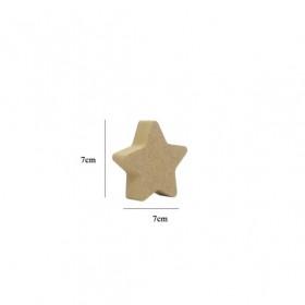 18mm Minik Yıldız Ahşap Obje 7x7cm