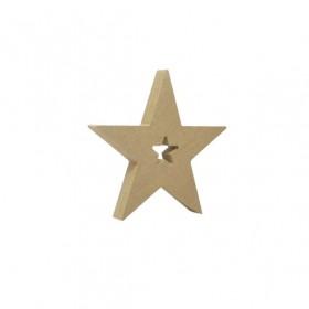 18mm Yıldızlı Ahşap Obje