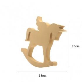 18mm Kanatlı At Ahşap Obje