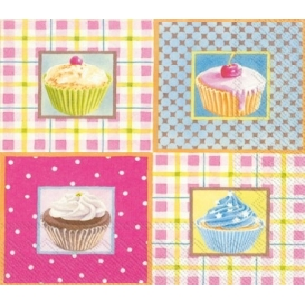 Ihr Peçete Cupcakeler 64- L521000 Özel Desen 33x33