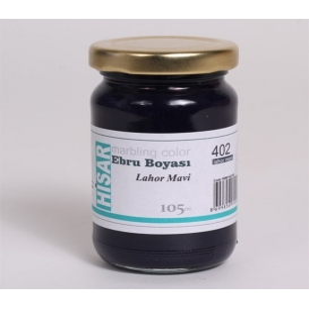 Hisar Ebru Boyası 105 ml 402 Lahor Mavi