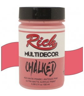 Rich Multi Decor Chalked Akrilik 4524- Antik Pembe 100cc