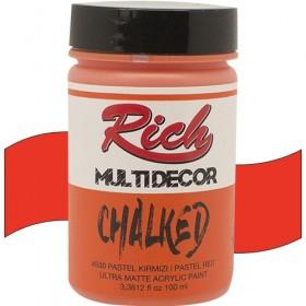 Rich Multi Decor Chalked Akrilik 4530- Pastel Kırmızı 100cc