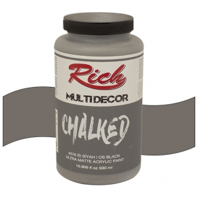 Rich Multi Decor Chalked Akrilik 4576 İS SİYAH - 500cc