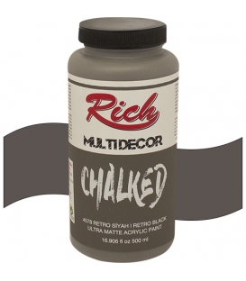 Rich Multi Decor Chalked Akrilik 4578 RETRO SİYAH - 500cc