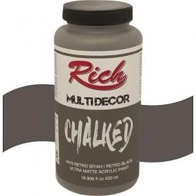 Rich Multi Decor Chalked Akrilik 4578 RETRO SİYAH - 500cc