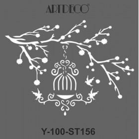 Artdeco Stencil 30x30cm -ST156