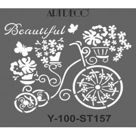 Artdeco Stencil Retro Bisiklet 30x30cm -ST157