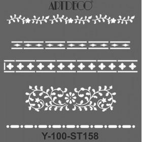 Artdeco Stencil 30x30cm -ST158