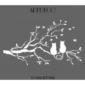 Artdeco Stencil 30x30cm -ST166