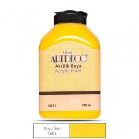 Artdeco 500ml 3602 Koyu Sarı Akrilik Boya