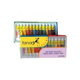 Fanart Academy Akrilik Boya Seti 12 Renk x 12ml