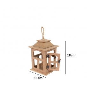Dekoratif Ahşap Fener Küçük 11cmx18cm
