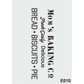 biStencil Şablon 25x35cm E-010