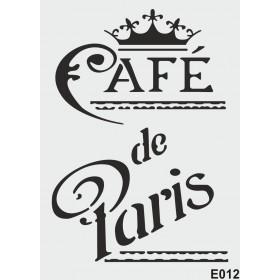 biStencil Cafe de Paris Şablon 25x35cm E-012