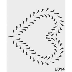 biStencil Şablon 25x35cm E-014