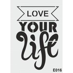biStencil Your Life Şablon 25x35cm E-016