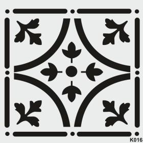 biStencil Şablon 25x25cm K-016