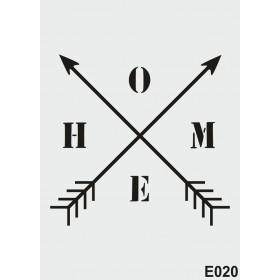 biStencil Home Oklar Şablon 25x35cm E-020