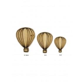 Lazer Kesim Ahşap Obje Uçan Balonlar PS112
