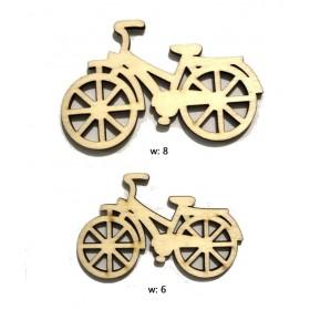 Lazer Kesim Ahşap Süs 2'li Bisiklet PS-111