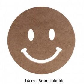 Gülen Emoji Ahşap Obje 6mm - 14cm