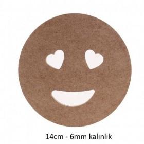 Aşık Emoji Ahşap Obje 6mm - 14cm
