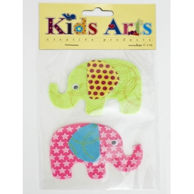 Kids Arts Keçe Sticker 2'li Fil ST-5238
