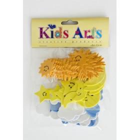 Kids Arts EVA SET (GÜNEŞ-BULUT-AY) MY-012