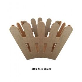Çitli Saksı Sepet Ahşap Obje 30x21x18cm Demonte