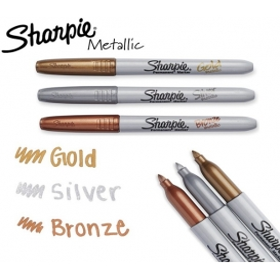 Sharpie Metalik Permanent Markör 3'lü Set