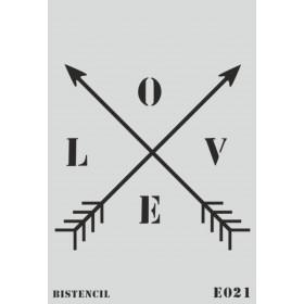 biStencil Love Oklar Şablon 25x35cm E-021